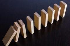Понижаясь domino_01 стоковое фото rf