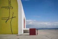 Популярный театр Niteroi, Niteroi, Рио-де-Жанейро, Бразилии стоковое фото rf