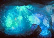 Подводный выдуманный мир иллюстрация штока