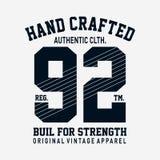 Подлинные одежды печатают дизайн для футболки бесплатная иллюстрация