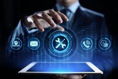 Поддержка 24 концепция технологии дела проверки качества 7 обслуживаний клиента стоковые фото