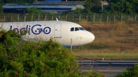 Посадка аэробуса A320 сток-видео