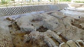 """Последний римский некрополь древности, усыпальницы и религиозные здания на """"Centro Turistico Culturale San Basilio стоковое фото rf"""