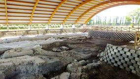 """Последний римский некрополь древности, усыпальницы и религиозные здания на """"Centro Turistico Culturale San Basilio стоковые изображения"""