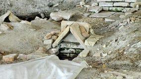 """Последний римский некрополь древности, усыпальницы и религиозные здания на """"Centro Turistico Culturale San Basilio стоковые фотографии rf"""