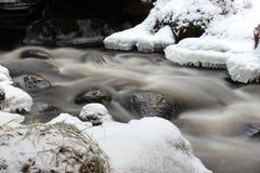 Поток в зиме стоковые изображения