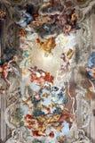 Потолочные фрески Rennaissance религиозные итальянские стоковое фото rf