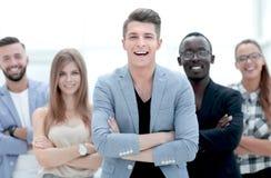 Портрет жизнерадостных молодых коллег стоковые изображения rf