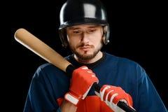 Портрет подающего бейсбола стоковое фото