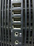Порт USB на случае компьютера стоковые изображения rf