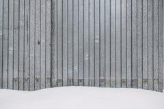 Полоски металла со снегом. Strips of grey metal is covered with snow Stock Photos