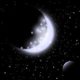Space background with the Moon Royalty Free Stock Photos