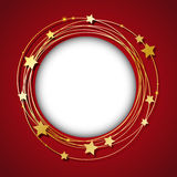 Frame with golden stars Stock Images
