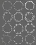 ПÐ?Ñ ‡ Ð°Ñ 'ÑŒSet van hand getrokken bladkaders, de witte vectorkaders van de klemkunst vector illustratie