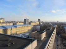 МР¾ Ñ  кР¾ Ð ² Ñ  киР¹ МаР½ Ñ… Ð?Ñ 'Ñ 'Ð?Ð ½/Moskou Manhattan Royalty-vrije Stock Afbeeldingen