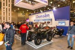 ÐœÐ-¾ Ñ 'Ð ¾ Парк-2015 Motopark-2015 (BikePark-2015) Der Ausstellungsstand mit Motorrädern und ATVs Stockfotos