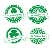�ector st. Patrick's day stamps Stock Images