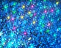 Ðœodern tło kolorowi olśniewający promienie na błękicie ilustracja wektor