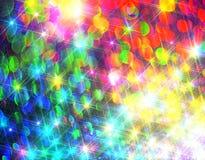 Ðœodernachtergrond van kleurrijke glanzende stralen stock illustratie