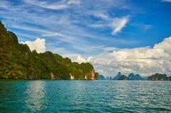 Оvergrown-Inseln stockbilder