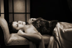 Дady in a luxurious boudoir Royalty Free Stock Photo