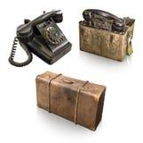 Ð•oggetti arly del XX secolo isolati su fondo bianco immagine stock libera da diritti