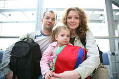 Еraveling family stock image