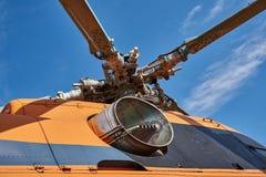 Ð直升机的动叶片的旋转斜盘 免版税库存图片
