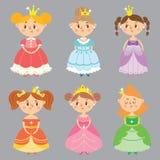 Ð美丽的公主的¡ ollection 库存例证