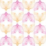 Ð  bstract oranje en roze vleugelspatroon op naadloze achtergrond royalty-vrije illustratie