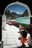 Ð- Gruppe hindische Pilger Stockbild
