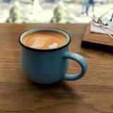 Ð ¡ appuccino w kawiarni Obrazy Royalty Free
