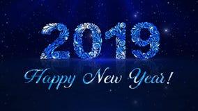 Ð ¡ elebrating 2019 nowy rok remisu wzór ilustracji