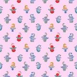 Ð ¡ hild bezszwowy wzór na różowym tle royalty ilustracja