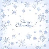 Ð ¡ hristmas Hintergrund mit Schneeflocken Stockfoto