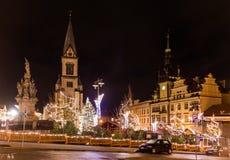 Ð ¡ hristmasmarkt in Kladno, Tsjechische Republiek royalty-vrije stock afbeeldingen