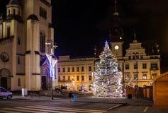 Ð ¡ hristmasmarkt in Kladno, Tsjechische Republiek Stock Foto's