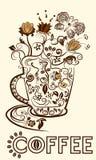 Ð ¡ oben des Kaffees lizenzfreie abbildung