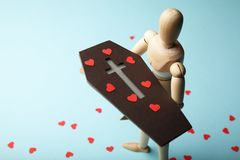 E Traurigkeit und Verlust von geliebtem tod lizenzfreies stockfoto