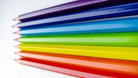 Ð ¡ olored ołówki na białym tle zdjęcia stock