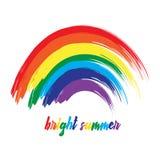 Ð-¡ olorful Regenbogen, Farbenanschläge Lizenzfreie Stockfotografie
