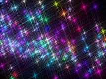 Ð ¡ omposition błyszczeć kolorowe gwiazdy na czarnym tle zdjęcie royalty free