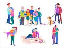 Ð-¡ oncept glückliche Familie, Flitterwochen, ein Baby erwartend stock abbildung
