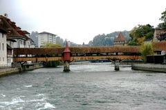 Ð ¡ overed Kapelbrug Royalty-vrije Stock Afbeelding