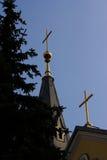 Ð-¡ ross på catholickdomkyrkan Arkivfoto