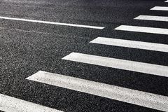 Ð ¡ rosswalk na drodze dla bezpieczeństwa Obrazy Stock