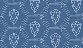 Ð ¡ ryptocurrency EOS - naadloos patroon royalty-vrije illustratie