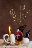 Ð ¹ Ñа, huevos del ½ ÑÐ? ÑÐ de ÑÐ del ¿Ð°ÑÑаÐ? de Pascua Fotografía de archivo libre de regalías