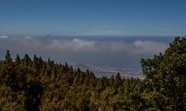 Далекий взгляд от горы Тенерифе стоковое изображение