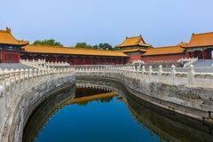 Дворец запретного города Gugong - Пекин Китай стоковые фото